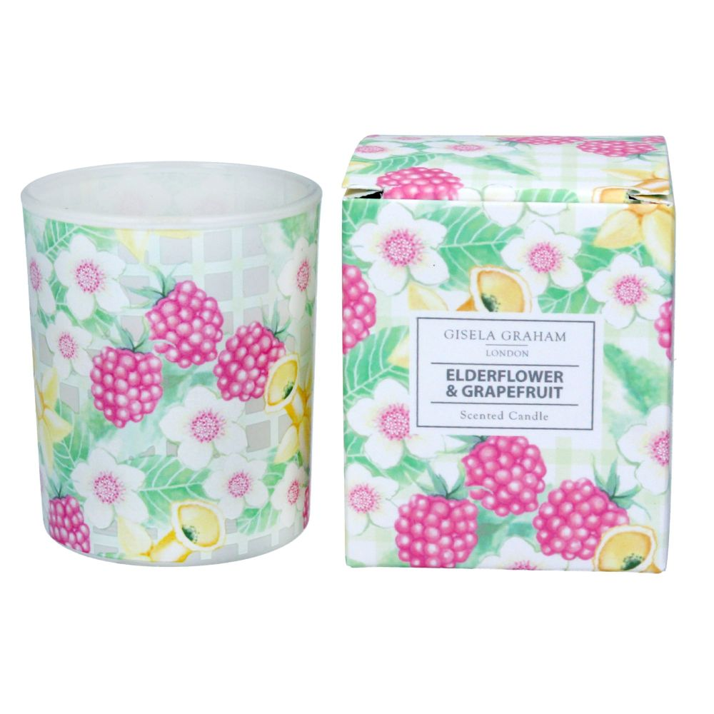 Gisela Graham Elderflower and Grapefruit Scented Small Boxed Candle