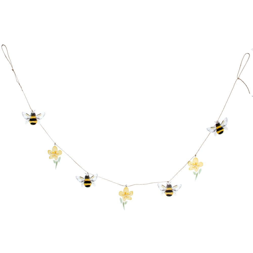 Gisela Graham Bee and Buttercup Wooden Garland