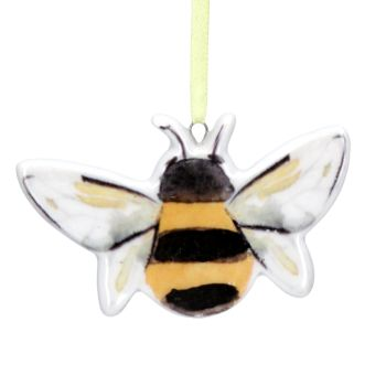 Gisela Graham Bee Ceramic Hanging Decoration