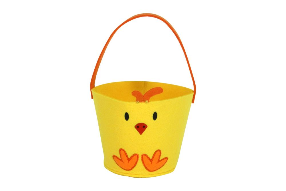Gisela Graham Yellow Felt Chick Basket