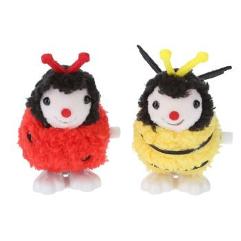 Gisela Graham Plush Jumping Toy - Bee and Ladybird