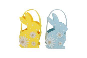 Gisela Graham Felt Bunny Bag - Yellow and Blue