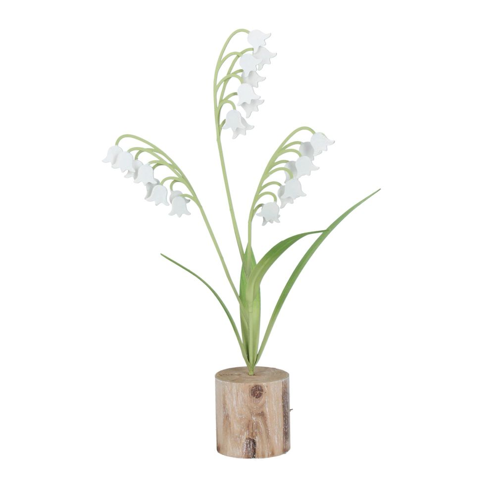 Gisela Graham Metal Lily of the Valley Ornament