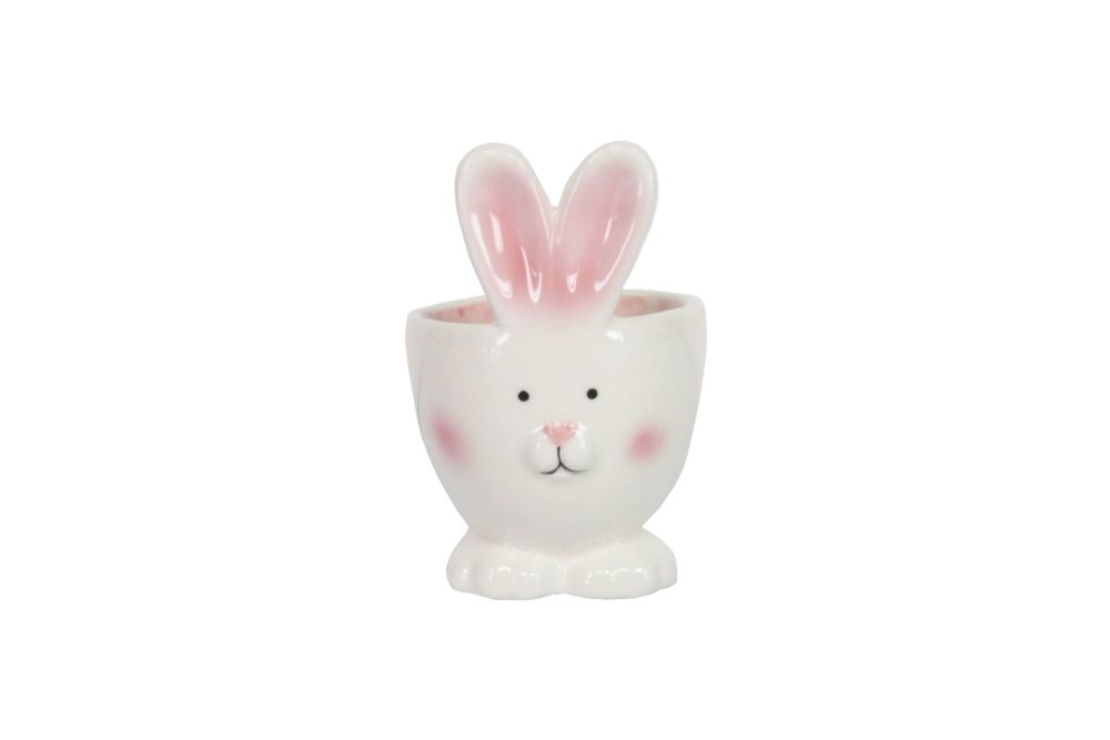 Gisela Graham White Ceramic Bunny Head Egg Cup