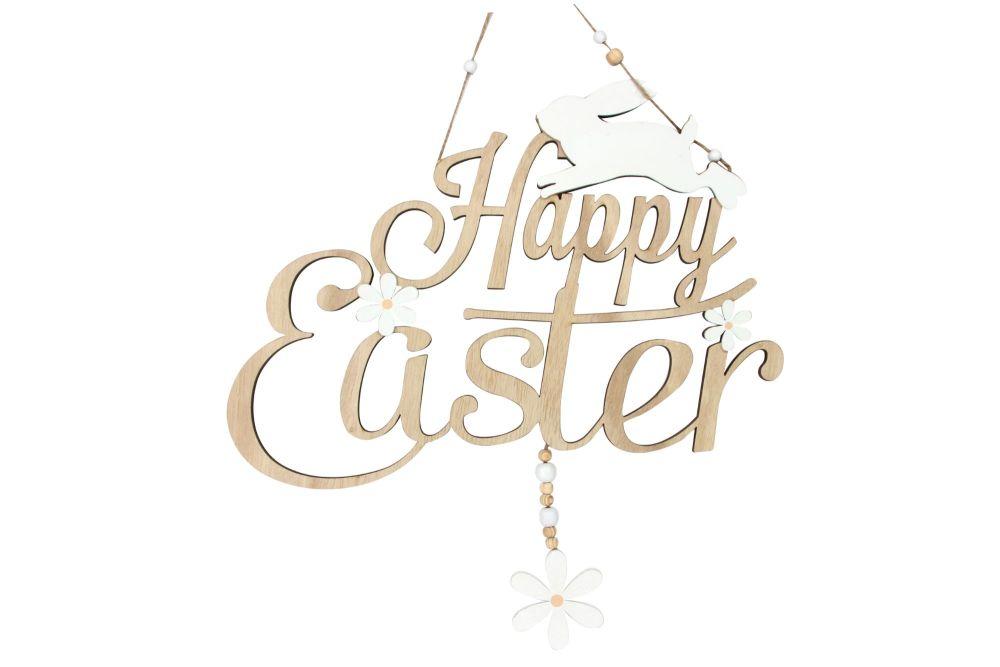 Gisela Graham 'Happy Easter' Fretwork Hanging Sign