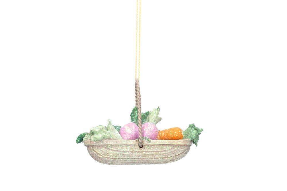 Gisela Graham Resin Vegetable Trug Decoration
