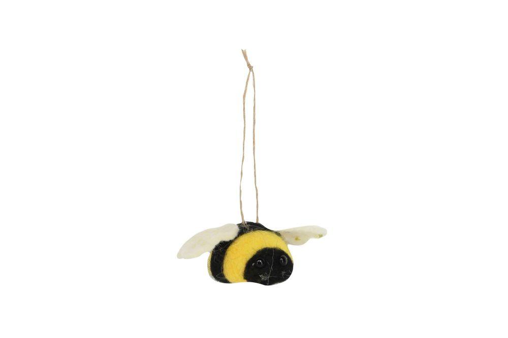 Gisela Graham Woollen Bee Decoration