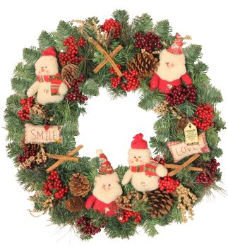 Festive Pals Large Christmas Wreath