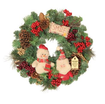 Festive Pals Medium Christmas Wreath