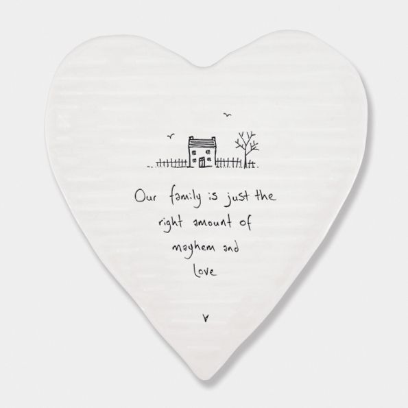 East of India Porcelain 'Our Family is..' Heart Coaster