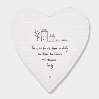 East of India Porcelain 'Friends Become...' Heart Coaster