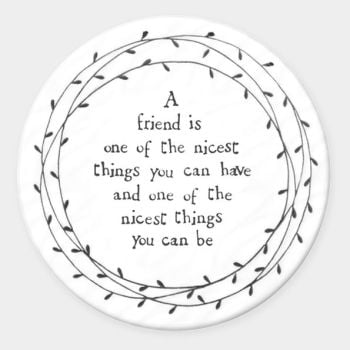 East of India Porcelain ' A friend is one of the nicest..' Round Coaster