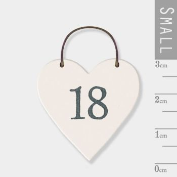 East of India Mini Wooden Heart Tag - 18