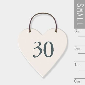 East of India Mini Wooden Heart Tag - 30