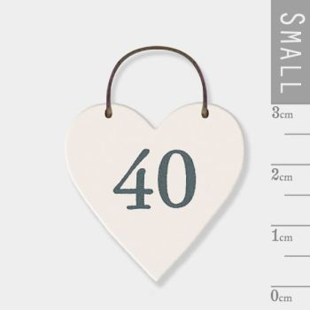 East of India Mini Wooden Heart Tag - 40