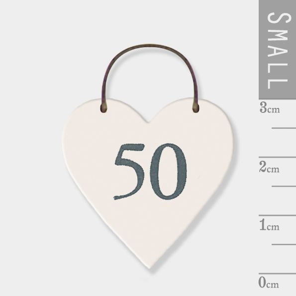 East of India Mini Wooden Heart Tag - 50