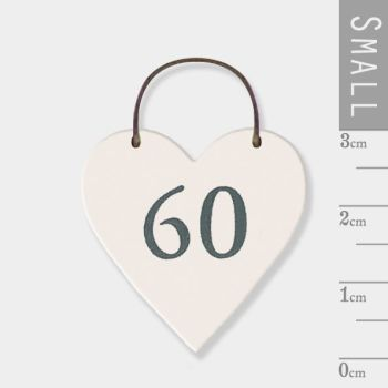 East of India Mini Wooden Heart Tag - 60
