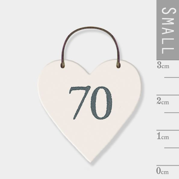 East of India Mini Wooden Heart Tag - 70