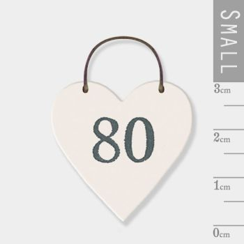 East of India Mini Wooden Heart Tag - 80
