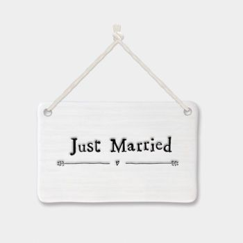 East of India Porcelain 'Just Married' Sign