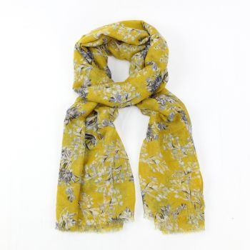 Arella Yellow Flora Design Scarf
