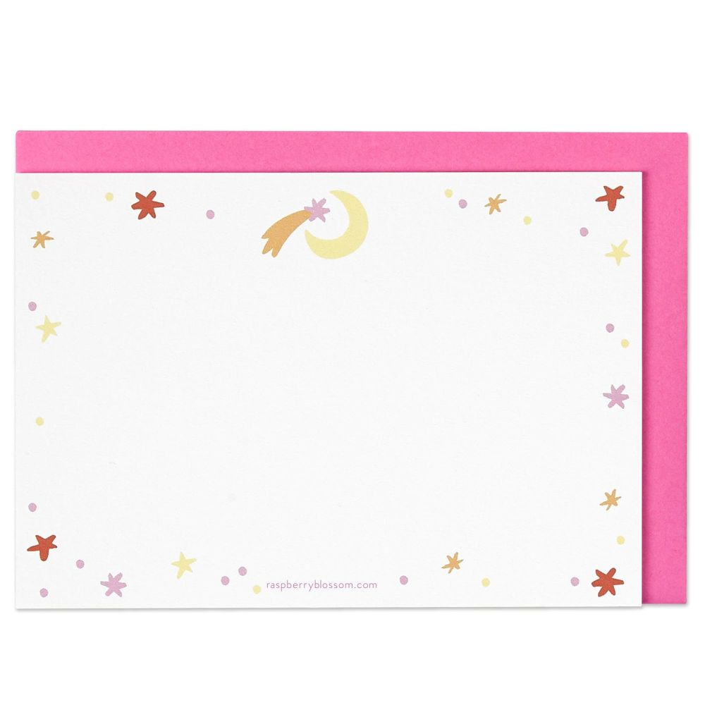 Raspberry Blossom Shooting Star Note Cards - Pack of 8