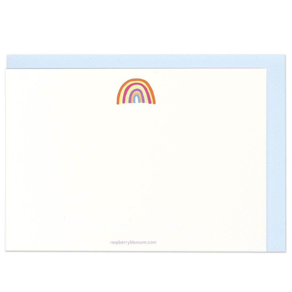 Raspberry Blossom Rainbow Note Cards - Pack of 8