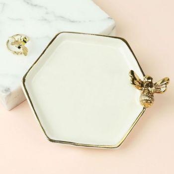 Hexagonal Bee Trinket Dish