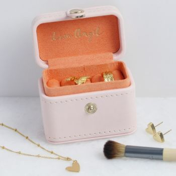 Pink and Coral Mini Travel Ring Box