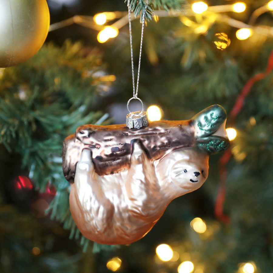Glass Sloth Bauble