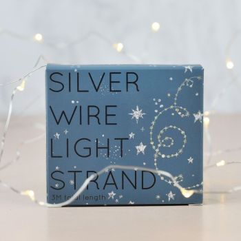 Silver Wire String of 30 Lights -LED