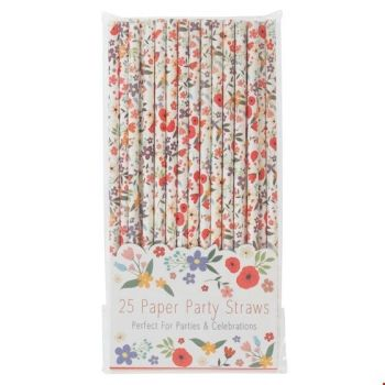 Summer Meadow Paper Straws - Pack of 25