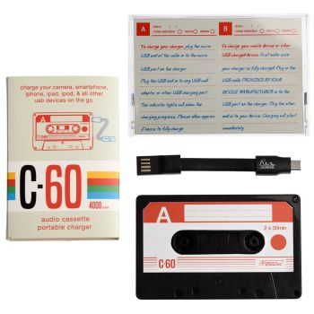 Cassette Tape USB Portable Charger