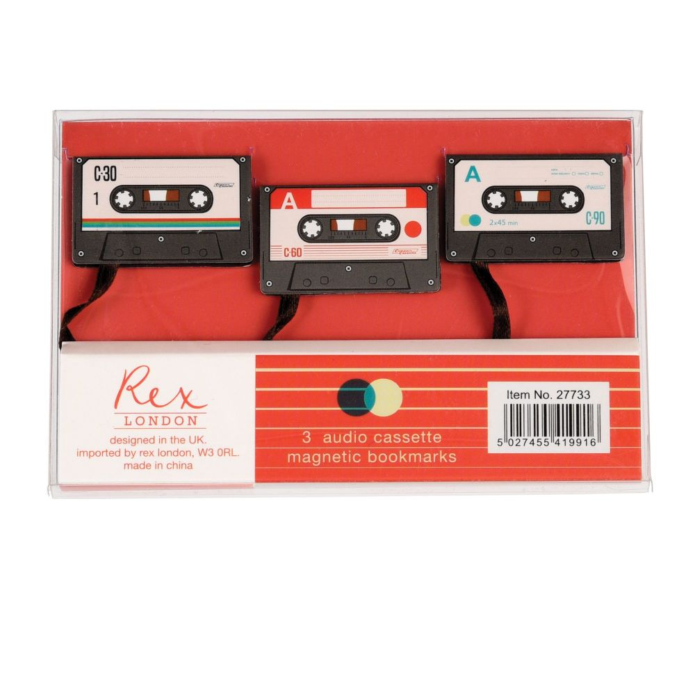 Cassette Tape Bookmarks - Set of 3