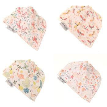 Baby Ziggle Pattern Boutique Bib Set of 4 - Katie Phythian Design