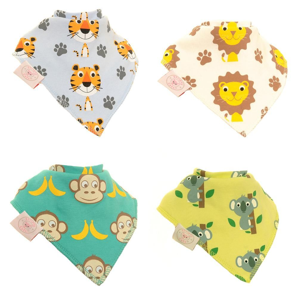 Baby Ziggle Safari Bib Set of 4