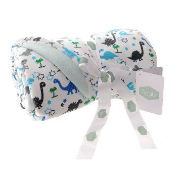 Baby Ziggle Dinosaur Print Fleece Blanket