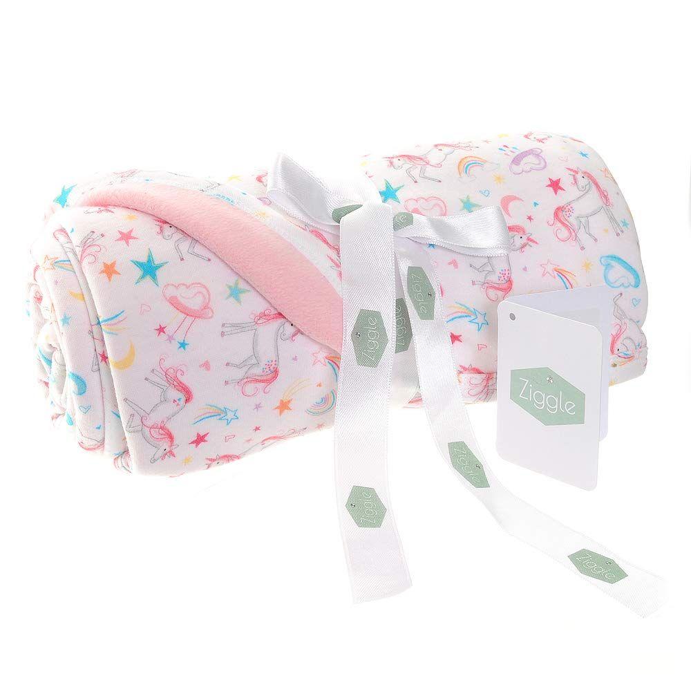 Baby Ziggle Unicorn Print Fleece Blanket