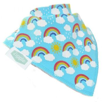 Baby Ziggle Rainbow Cotton Bib