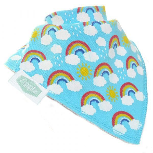 Baby Ziggle Rainbow Cotton Bib