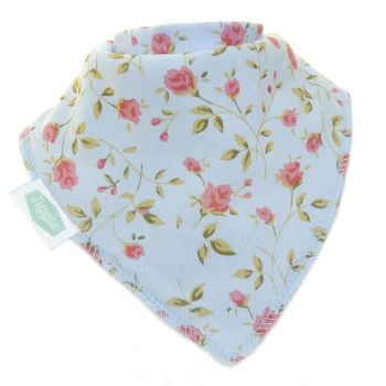 Baby Ziggle Vintage Rose Cotton Bib