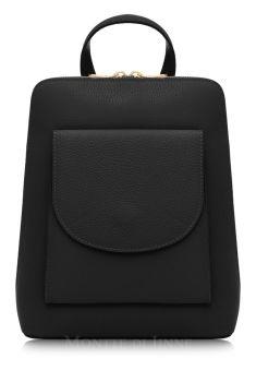 Italian Leather Backpack - Black