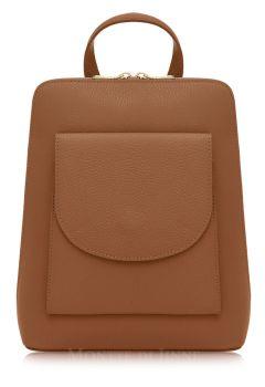Italian Leather Backpack - Tan