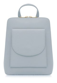 Italian Leather Backpack - Duck Egg Blue