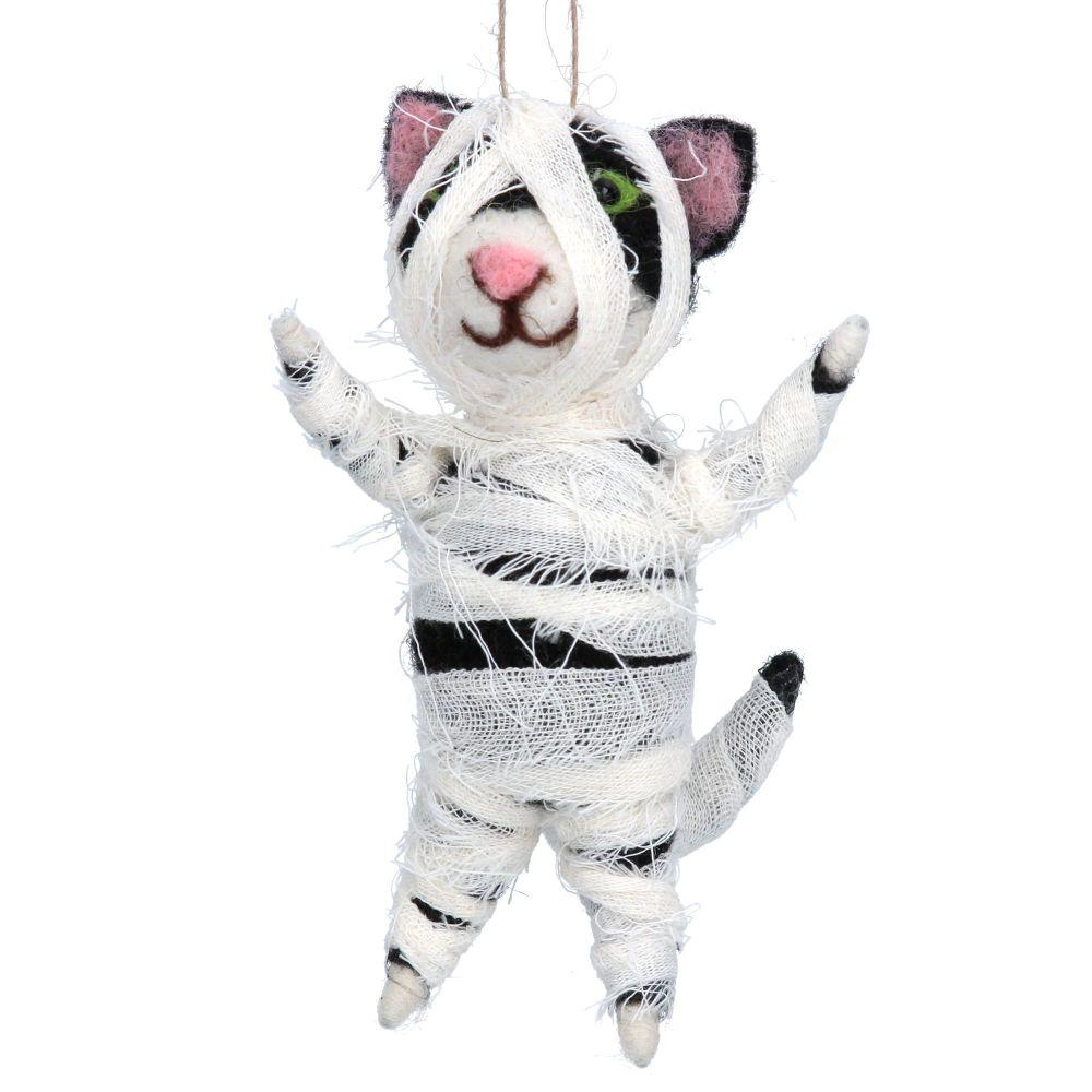 Gisela Graham Woolen 'Mummy' Cat