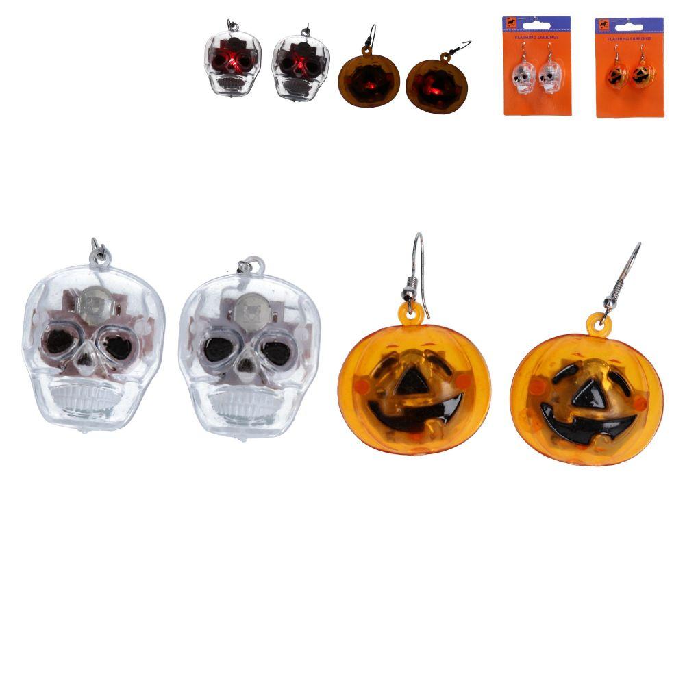 Gisela Graham Halloween LED Earrings - 2 Assorted