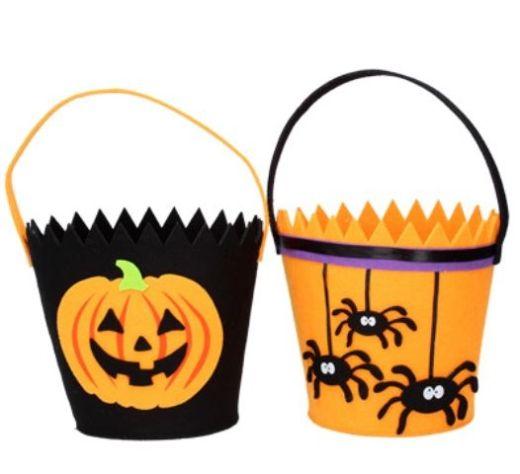 Gisela Graham Felt Halloween Buckets - 2 Assorted