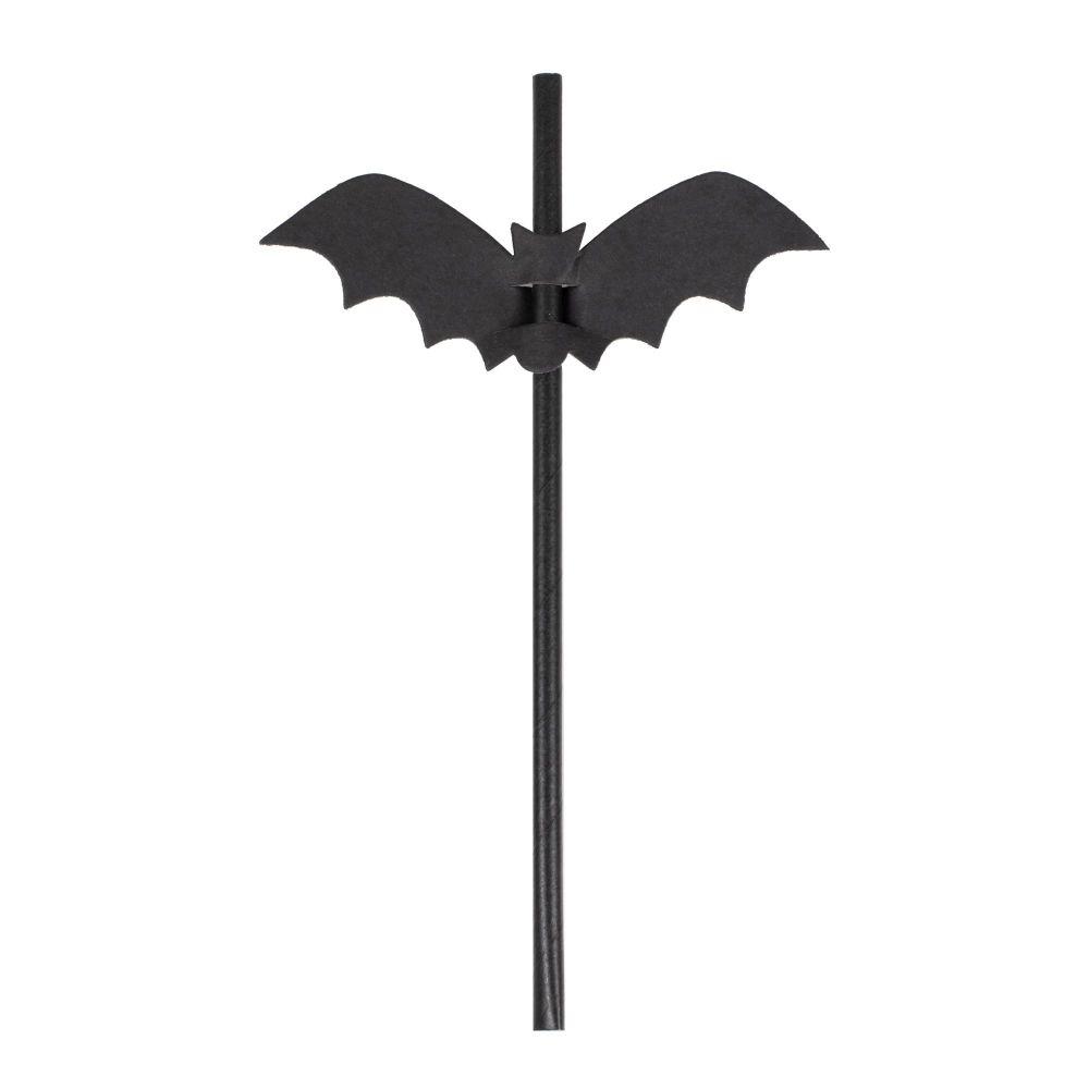 Ginger Ray Halloween Bat Paper Straws
