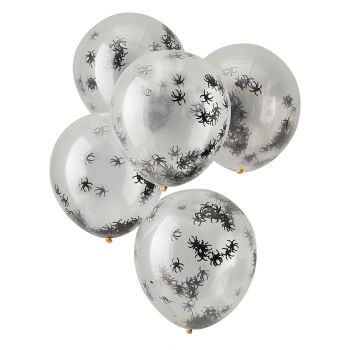 Ginger Ray Halloween Spider Confetti Balloons