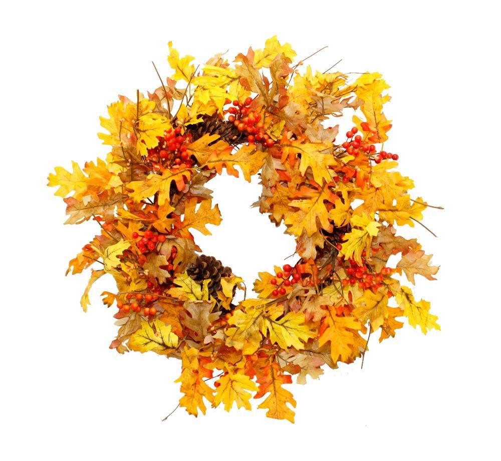 Autumn Leaf and Berry Wreath